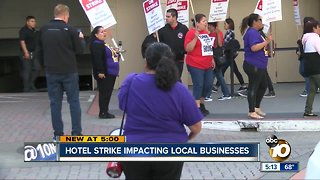 Hotel strike impacting local business