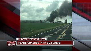 Sheboygan Falls Fire: Plane crash at Sheboygan County Airport - Video