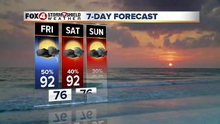 PM Storm Chances Through Friday...Drier Weekend 9-14 - Video