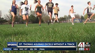 Even without a track, St. Thomas Aquinas team on a mission