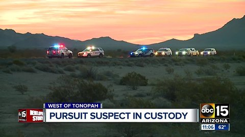 Pursuit suspect taken into custody west of the Valley