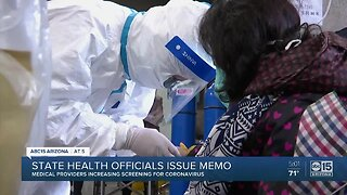 State health officials issue memo for coronavirus screenings