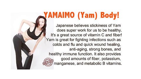 05 Japanese side dish, YAMAIMO, the Super Yam for forever young body