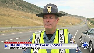 Colorado State Patrol confirms 2 people killed in fiery C-470 crash