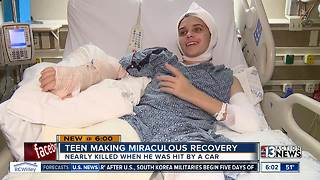 Teen making miraculous recovery after being hit, dragged by car - Video