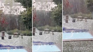 Video shows shocking hail storm in South Africa  - Video