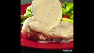 Chicken Breast with Alfredo Sauce and Grapes