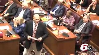 Former Ben Davis coach delivers powerful message to lawmakers as team is honored for Championship - Video