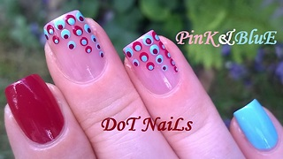 Gradient Sheer Pink Dotticure Nail Art Design - Video