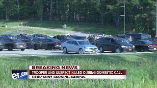 New York State trooper killed near Corning - Video
