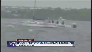 Boaters rescued by deputies during Irma - Video