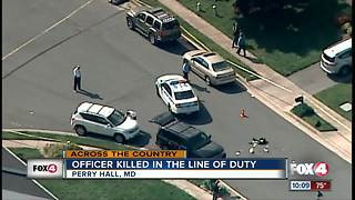 Baltimore officer killed in line of duty