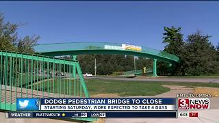 Dodge Street Pedestrian Bridge needs more work - Video