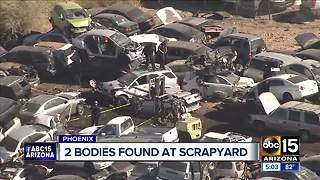 Two men found shot to death at Phoenix scrapyard - Video
