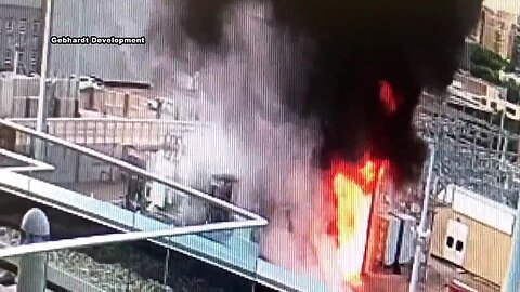 WATCH: Moment of explosion at Madison Gas & Electric substations
