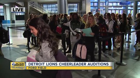 Detroit Lion Cheerleader Tryouts