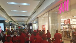 South Africans Protest at H&M Stores Following Accusations of Racism - Video