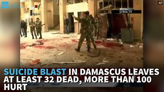 Suicide Blast In Damascus Leaves At Least 32 Dead, More Than 100 Hurt - Video