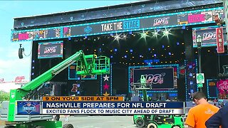 Nashville prepares for NFL draft