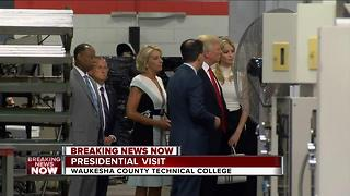 President Trump visits WCTC - Video