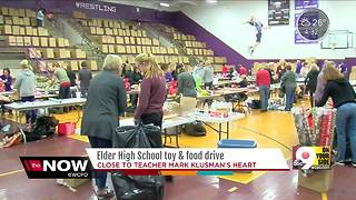 Elder moms, students wrap up toy and food drive - Video