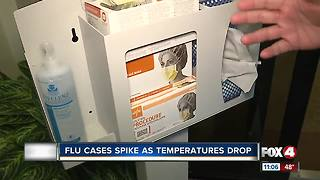Flu cases spike as temperatures drop - Video