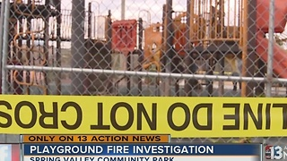 Spring Valley playground fire under investigation - Video