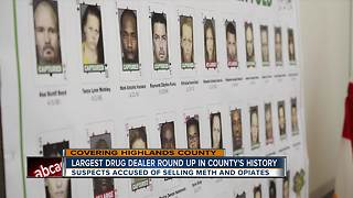 Highlands County Sheriff's Office makes largest dealer round-up arrest in county's history - Video