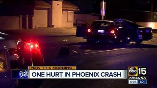 Person rushed to hospital after wreck at 67th Avenue and Camelback - Video