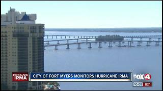 The City of Fort Myers Monitors Hurricane Irma
