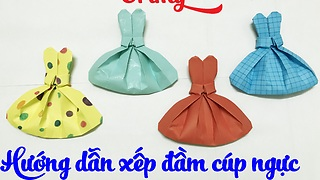 How to make a paper cute dress