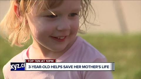 Heroic 3-year-old saves mother's life