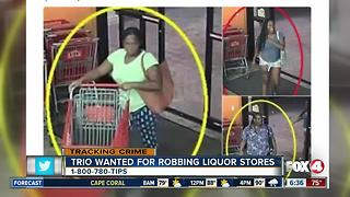 Three women wanted in Lee Co. for robbing liquor stores - Video