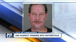 Man crashes into motorcycle, charged with felony DWI - Video