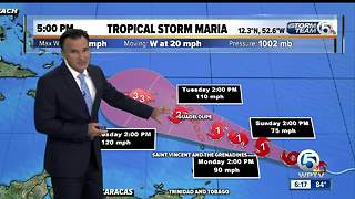 3 named storms in the Atlantic, including newly formed Tropical Storm Maria - Video