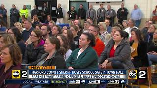 Hundreds attend Harford County Sheriff's Office school Safety town hall - Video