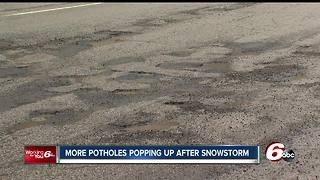 More potholes popping up across Indianapolis after latest snowfall - Video