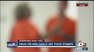 Bill would allow drug felons to get food stamp benefits in Indiana - Video