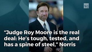 Chuck Norris Endorses Judge Roy Moore For US Senate - Video