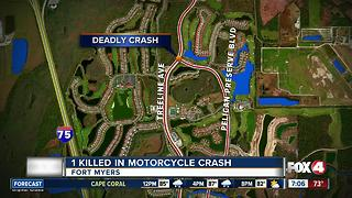 Man Killed in Fort Myers Motorcycle Crash - Video