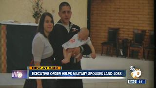 Executive order helps military spouses land jobs - Video