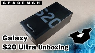 Samsung Galaxy S20 Ultra 5G Unboxing