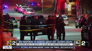Baltimore Police: Detective Suiter was shot with his own firearm, conspiracies are untrue - Video