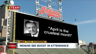 Cleveland Indians attendance back on the rise - Video
