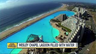 Wesley Chapel Lagoon filled with water - Video