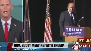 Florida Gov. Scott to meet with President-elect Trump