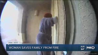woman saves neighbors from fire