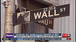 NYSE could open soon