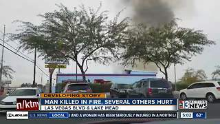Man dead, woman seriously injured in North Las Vegas fire - Video