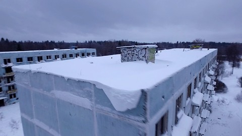 Russian military ghost city aerial